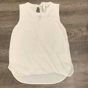 41 Hawthorn S Clearwater White Faux Wrap Top